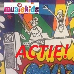 ACTIE ! Hans Mader Cartoon Muziekids logo