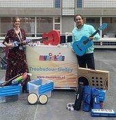 De Muziekids-Troubadourtrolley voor het Sophia-Kinderziekenhuis Rotterdam!